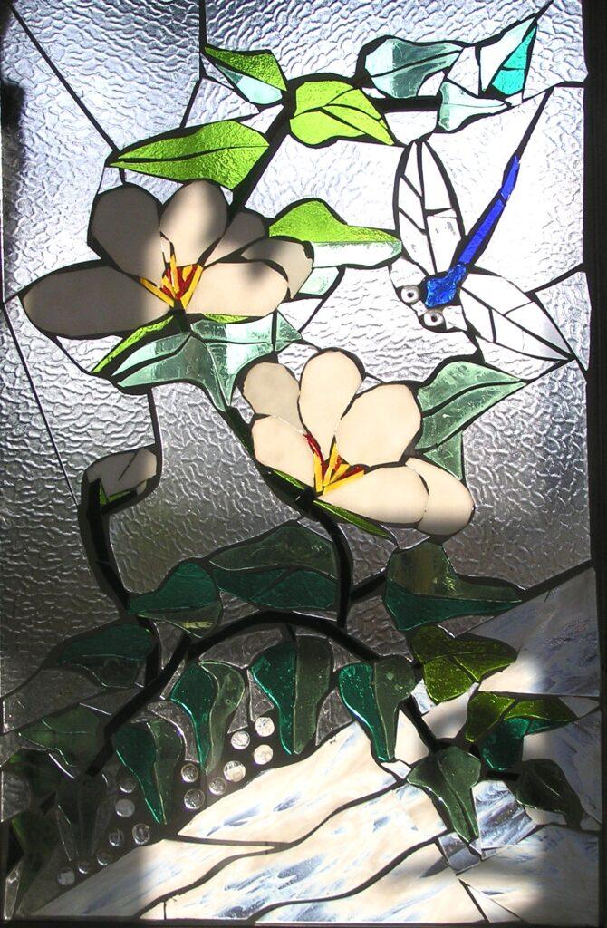 Mosaik, glasmosaik, glaskunst, glaskunstner, Liselund ny Slot, glaspatch glaskunst, glaskunstner, glaskunst udstilling