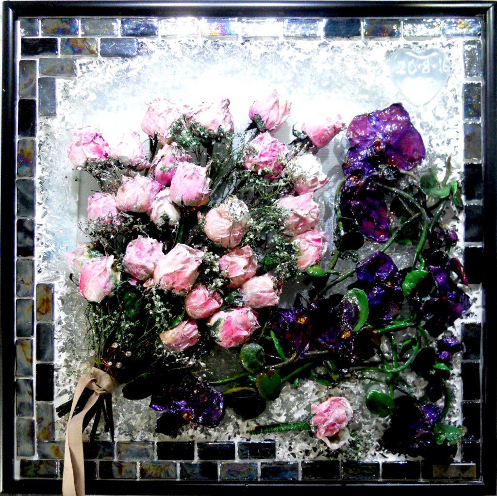 bevar brudebuketen, buket, brudebuket, konservering af buket,pressede blomster, tørret buket, tørrede blomster, bevar brudebuket, presset brudebuketpresset brudebuket,  presning af brudebuket