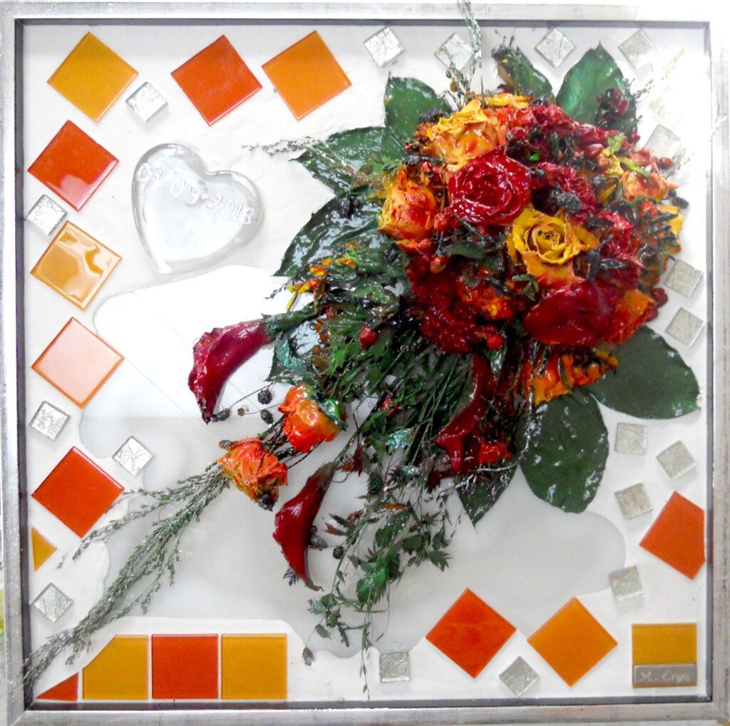 buket, pressede blomster, tørret buket, tørrede blomster,
