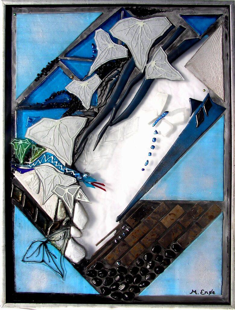 glaskunst, glaskunst galleri, Glaspatch, Glaspatch glaskunst, Mette Enøe, glaskunst udstilling, Eva og syndefaldet, kunst, kunst udstilling. Slanger