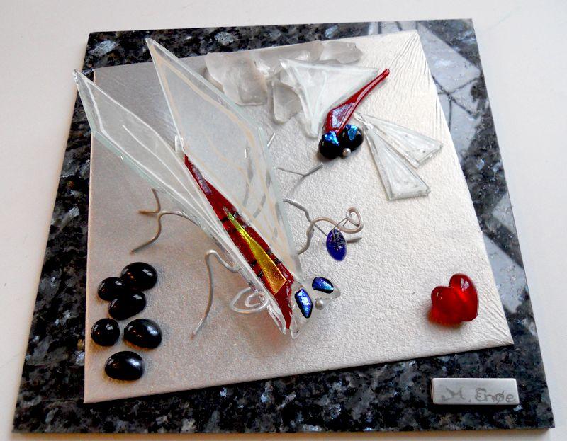 mosaikker str. 30 x 30 cm, af Mette Enøe, glaskunster og specialist.  Se det flotte udvalg. Fremvisning af galleri efter aftale. Sjælland, skulptur, glasskulptur