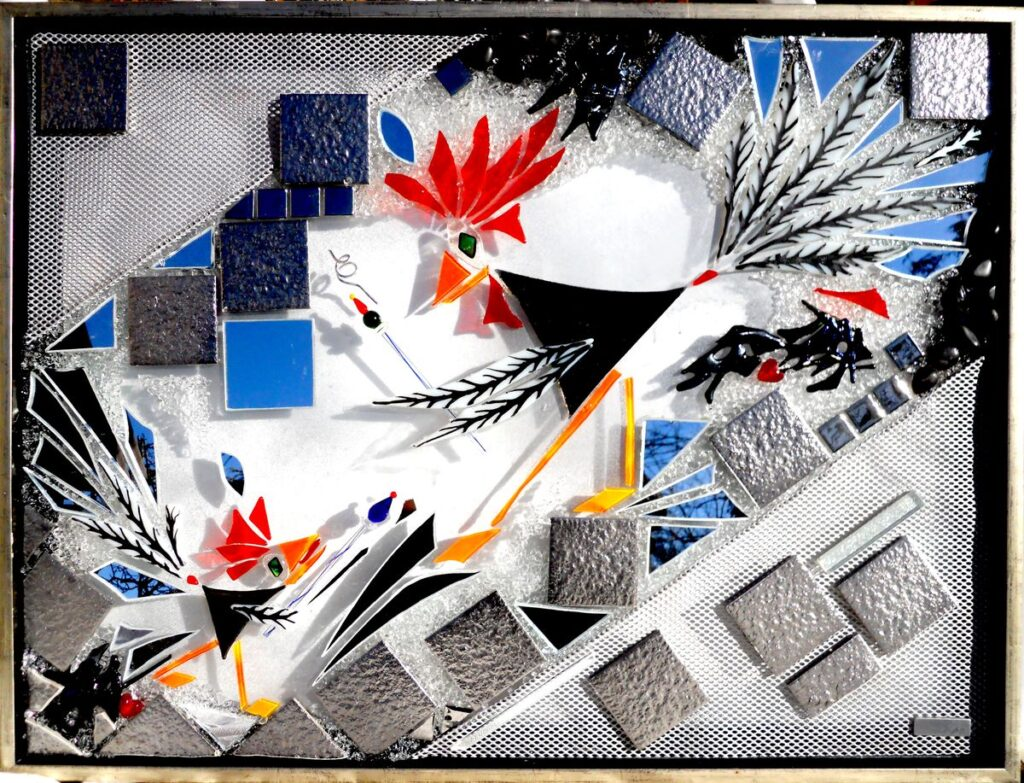 glaskunst, glaskunst galleri, Glaspatch, Glaspatch glaskunst, Mette Enøe, glaskunst udstilling, , kunst, kunst udstilling. Far og søn, leg, leg og læring