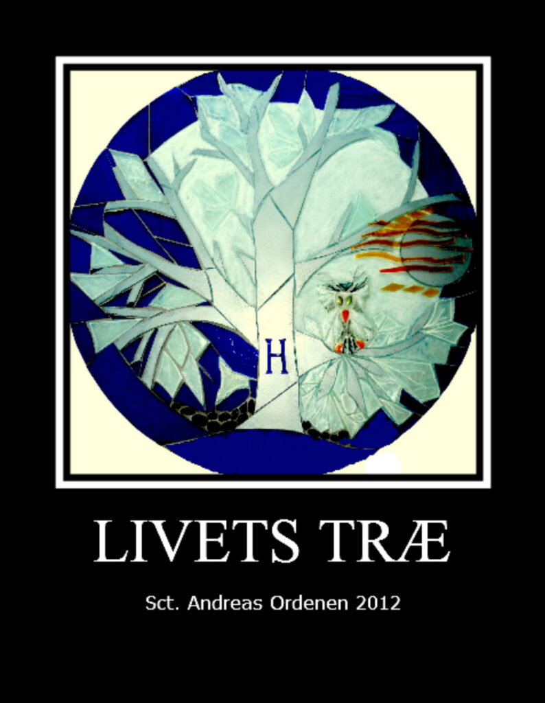 Livets træ, mosaik, glasmosaik, glaskunst, glaskunstner, Mette Enøe, glaspatch glaskunst, rundt glas, rundt glasværk, glaskunst udstilling, glaskunst galleri, Sct. Andreas ordenen, religiøs kunst