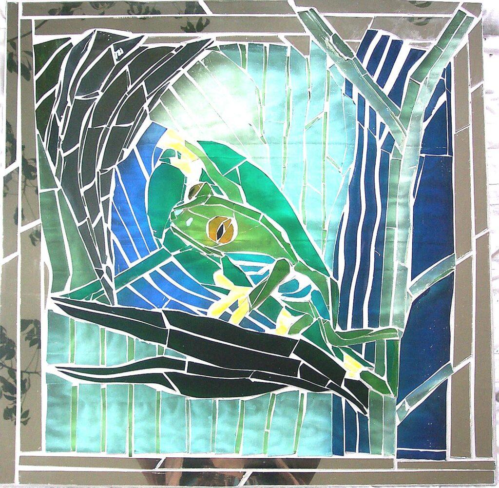 glaskunst, glaskunst galleri, Glaspatch, Glaspatch glaskunst, Mette Enøe, glaskunst udstilling, , kunst, kunst udstilling. udendørs kunst, udendørs mosaik, udendørs mosaikker, frø
