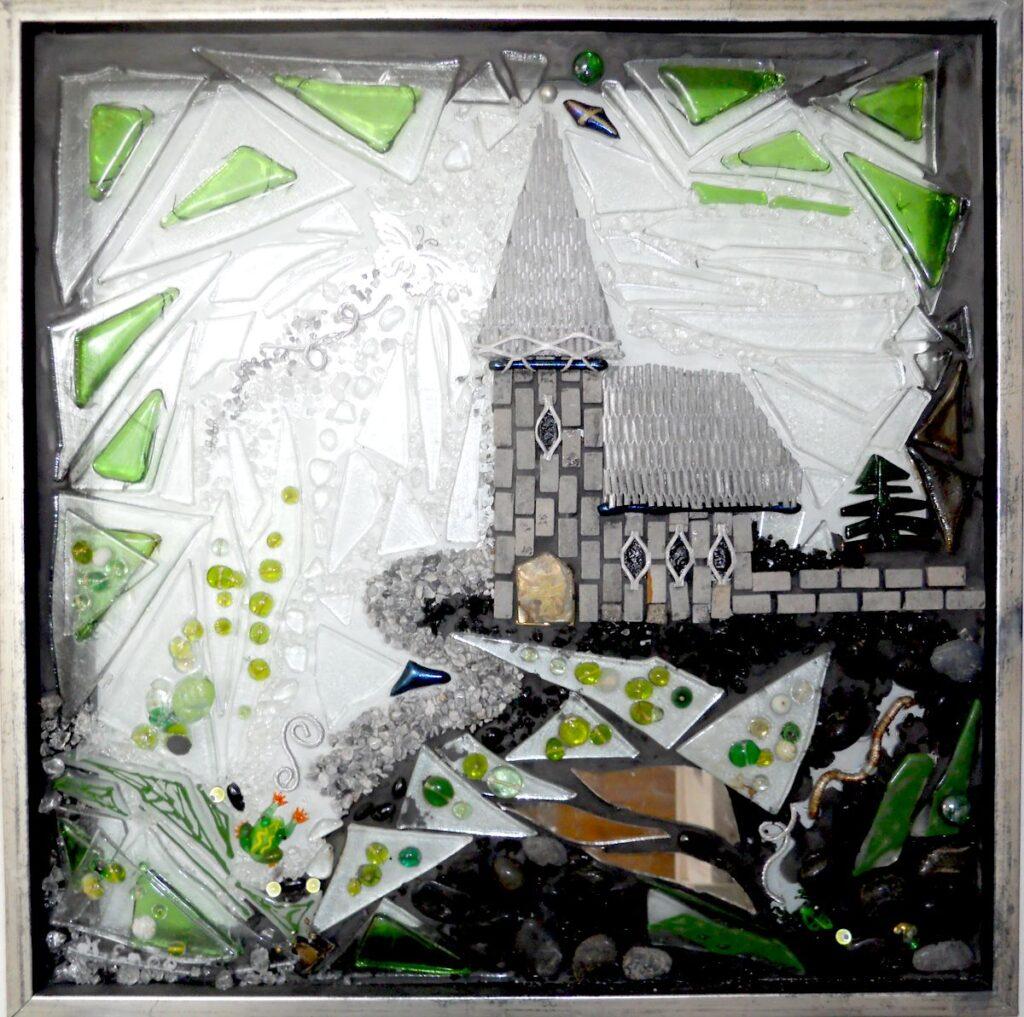 Mosaik, mosaikker, glaspatch mosaik, glaskunst, glaspatch glaskunst, glaskunst galleri, glaskunst udstilling, glaskunstner, Mette Enøe, kirke, slot, drøm