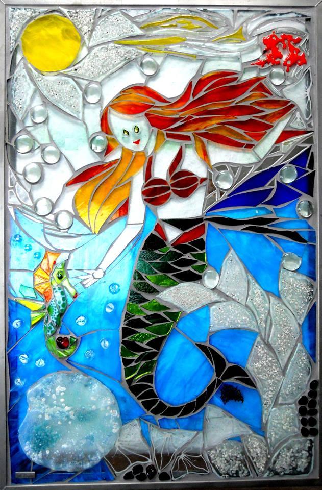 mosaik, mosaikker, glaskunst, glaskunstner, glaskunst galleri, kunstmosaik, billedkunst, udendørs kunst, kunst til haven, kunst, kunstner, glaskunstner, havekunst