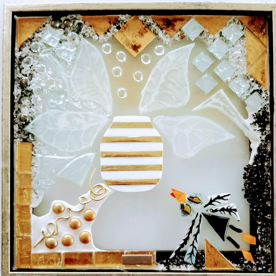 mosaik, kunstmosaik, mosaikkunst, Glaspatch, Mette Enøe, glaskunst, glaskunst udstilling, glaskunst galleri. galleri, kunstudstilling, Kehler