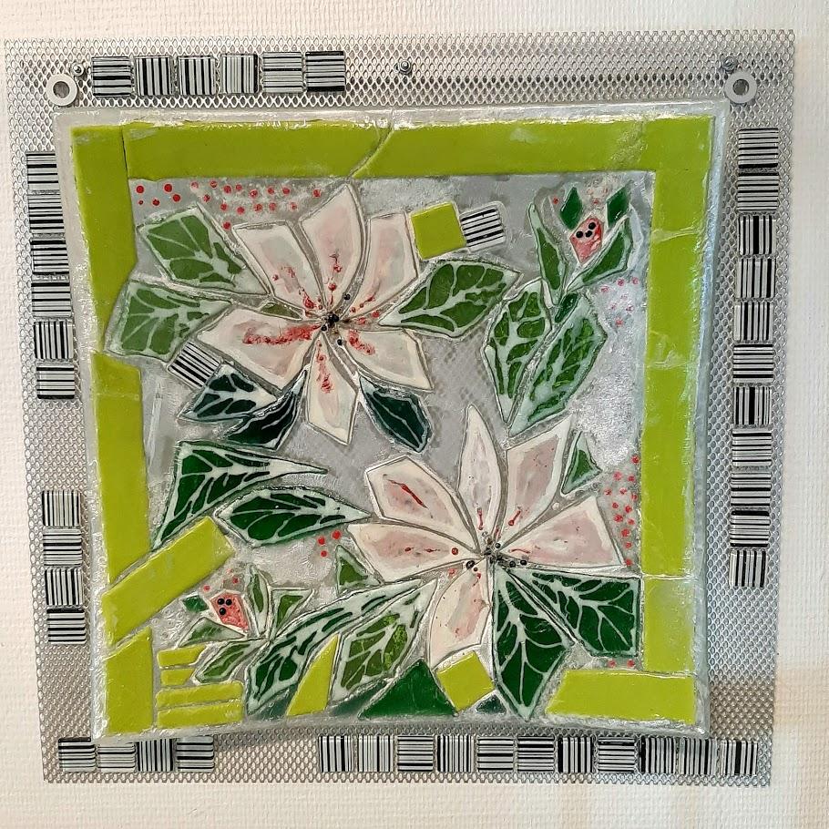 Mosaik, mosaikker, glaspatch mosaik, glaskunst, glaspatch glaskunst, glaskunst galleri, glaskunst udstilling, glaskunstner, Mette Enøe,