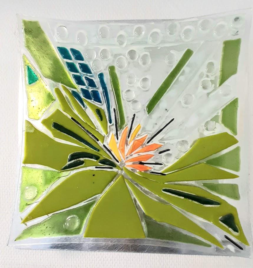 mosaikkunst, Glaspatch, Mette Enøe, glaskunst, glaskunst udstilling, glaskunst galleri. galleri, kunstudstilling, glasfad, vægophæng glas