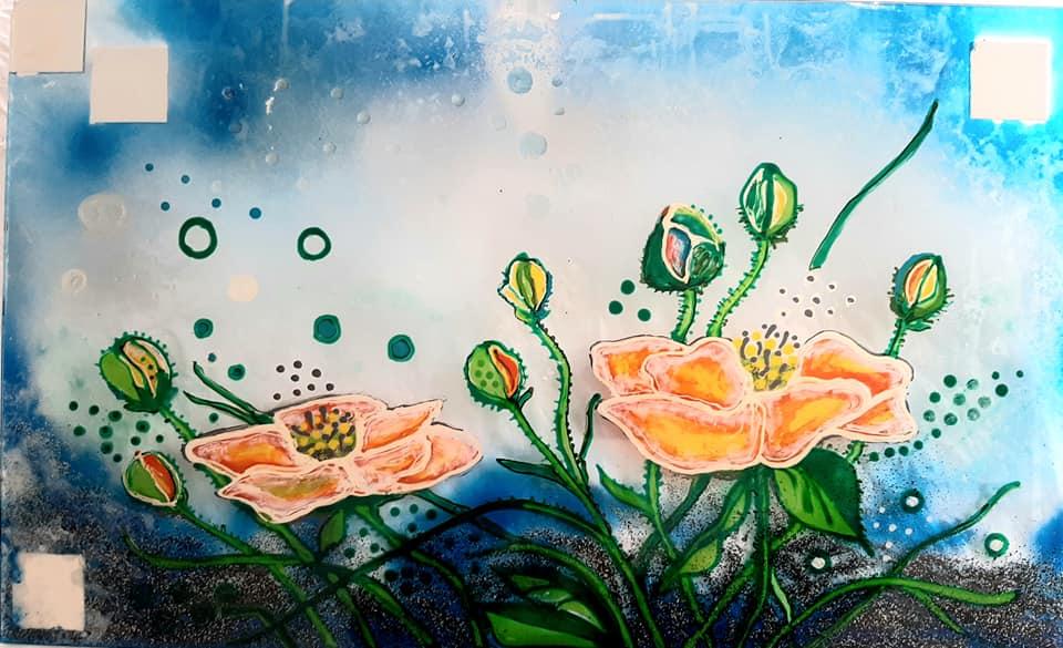 udstilling, glaskunst galleri, glaskunst,  special opgaver, glaskunst bestilling, stænkplade, bagplade, bagplade køkken, multiplade, glaskunstner