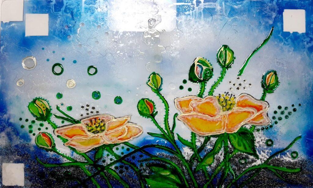 glaspatch glaskunst, glaskunst udstilling, glaskunst galleri, glaskunst,  special opgaver, glaskunst bestilling, bagplade, bagplade køkken,